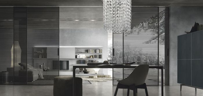 """Stripe"" sliding door system by Rimadesio"