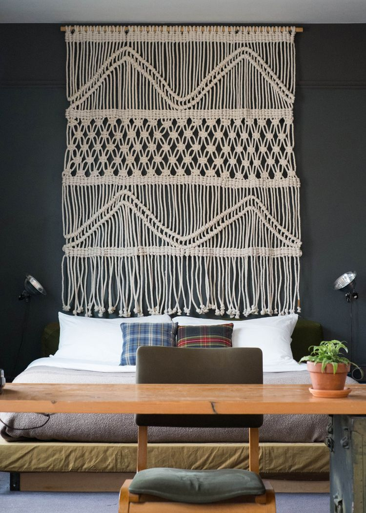 Cotton cord Headboard created for room in ACE Hotel Portland