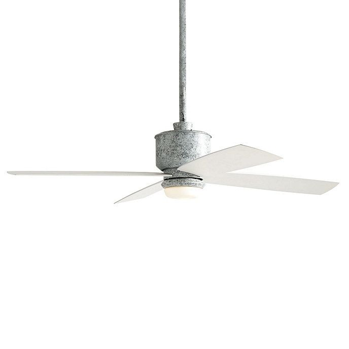 Cool down warm evenings finished for a rustic galvanized metal look finished for a rustic galvanized metal look 3 speed fan has four all weather blades that promise quiet wobble free operation light kit is crafted from mozeypictures Choice Image
