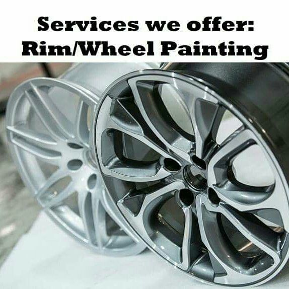 Rim Wheel Painting Rim Painting Just Aed 100 Each Caliper Painting Just Aed 100 Each Rim Painting Gunmetal Tone 200 Auto Body Shop Rims For Cars Used Tires
