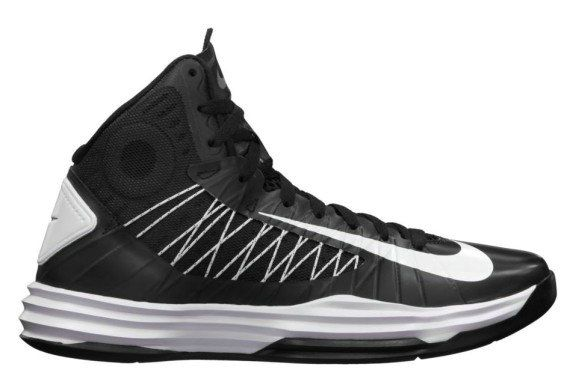 7faada8a815 Hyperdunk 2012 for Women Nike Hyperdunk Womens 2012 TB Black White Metallic  Silver 524882 001 .Nice ! 50% Off !!