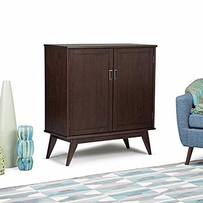 Draper Mid Century Medium Storage Cabinet Simpli Home