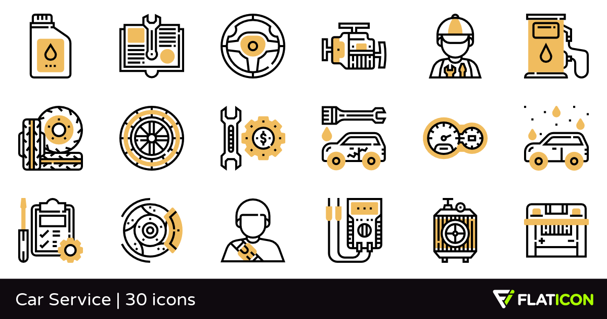 30 Free Vector Icons Of Car Service Designed By Eucalyp Service Design Vector Icons Icon