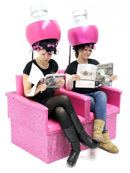Women in Salon Hood Dryers | Fashion Theme Prop Hire ...