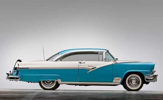 Ford Fairlane Victoria Hardtop Coupe Side View Car Pictures