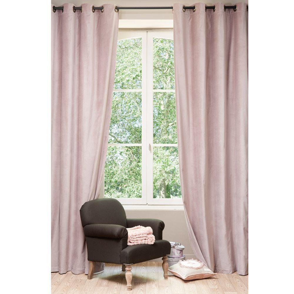 rideau velours rose perle design marocain en 2018. Black Bedroom Furniture Sets. Home Design Ideas