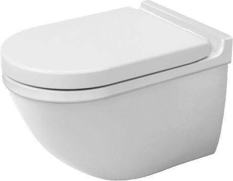 Duravit Starck 3 Toilet wall mounted washdown model, suitable for SensoWash, Durafix included