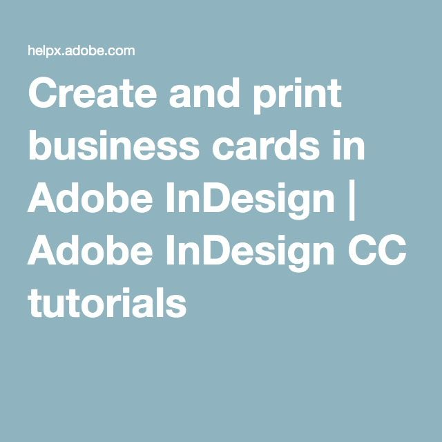 Create and print business cards in adobe indesign adobe indesign create and print business cards in adobe indesign reheart Image collections