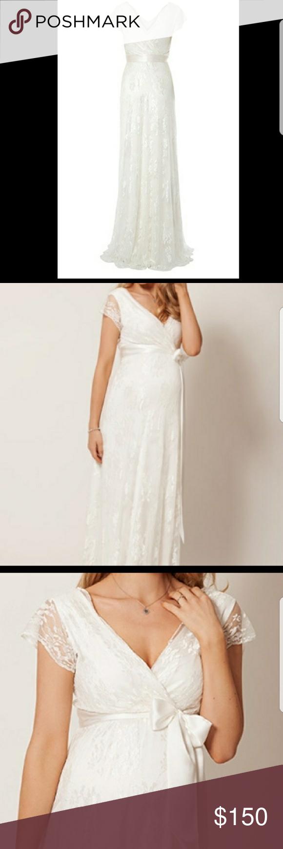 Maternity tiffany rose wedding dress bohemian lace wedding dress