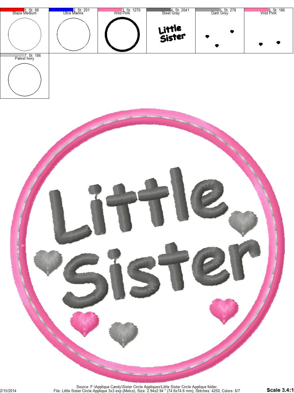 Little Sister Circle Applique