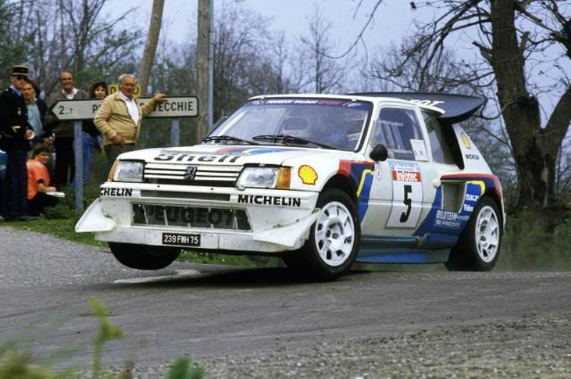 Peugeot 205 T16 Evo 2 rally car