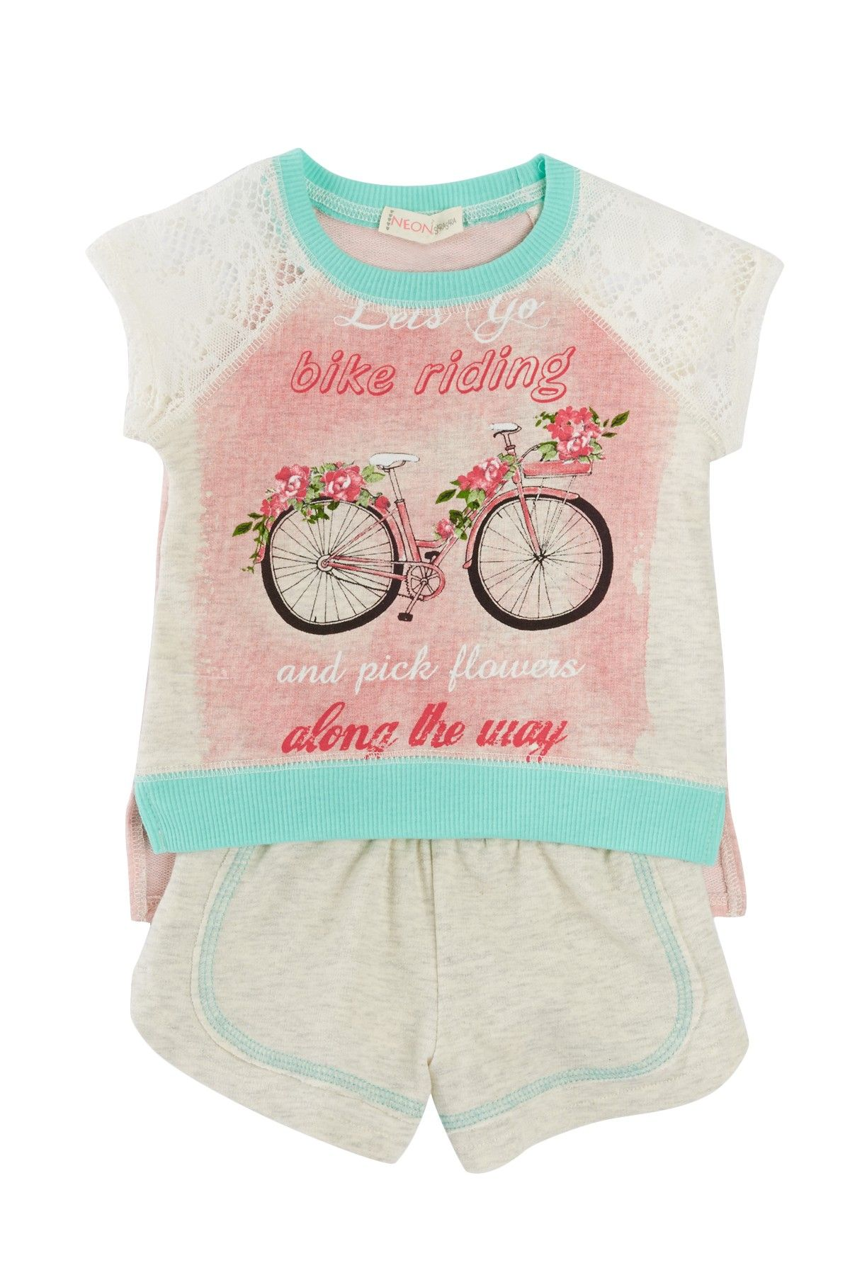 8fdb92c7cd60 Bicycle Graphic Top & Gym Short Set (Toddler Girls) by NEON by Sara Sara on  @nordstrom_rack