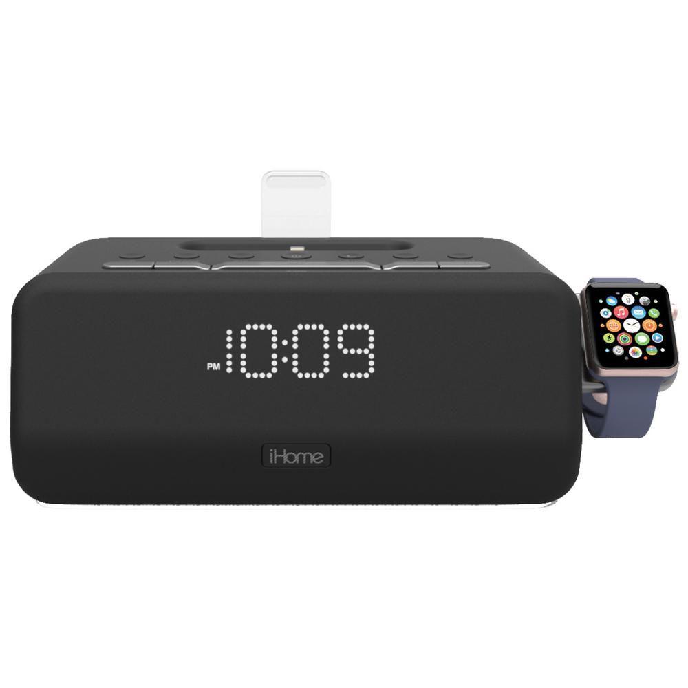 iHome Lightning Bluetooth FM Stereo Dual Alarm Clock Radio