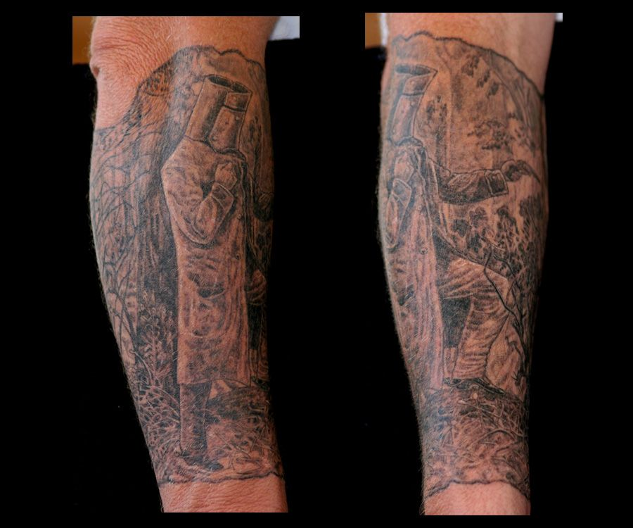 peter 39 s ned kelly sleeve aussie tattoos pinterest. Black Bedroom Furniture Sets. Home Design Ideas
