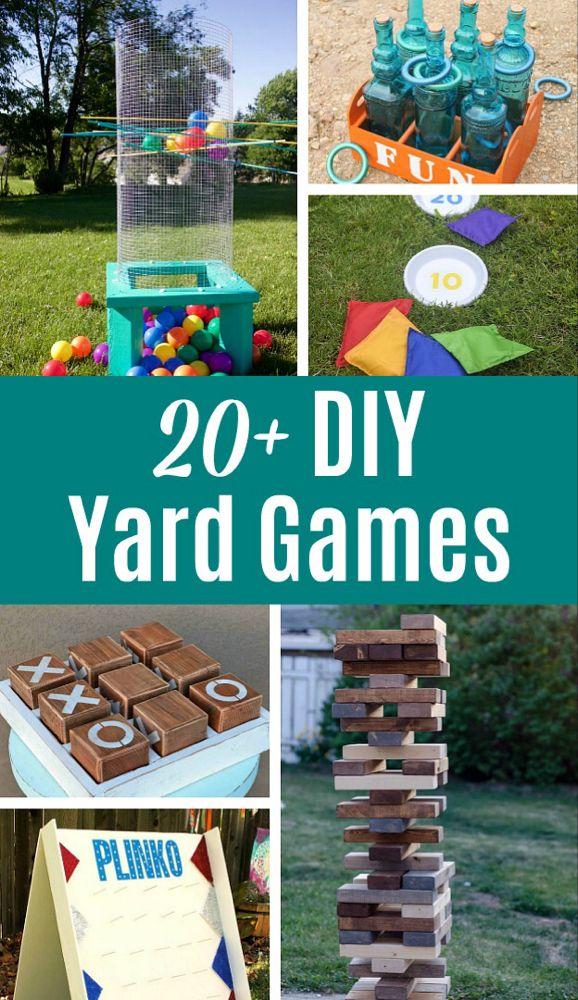 20+ DIY Yard Games to Make this Summer!