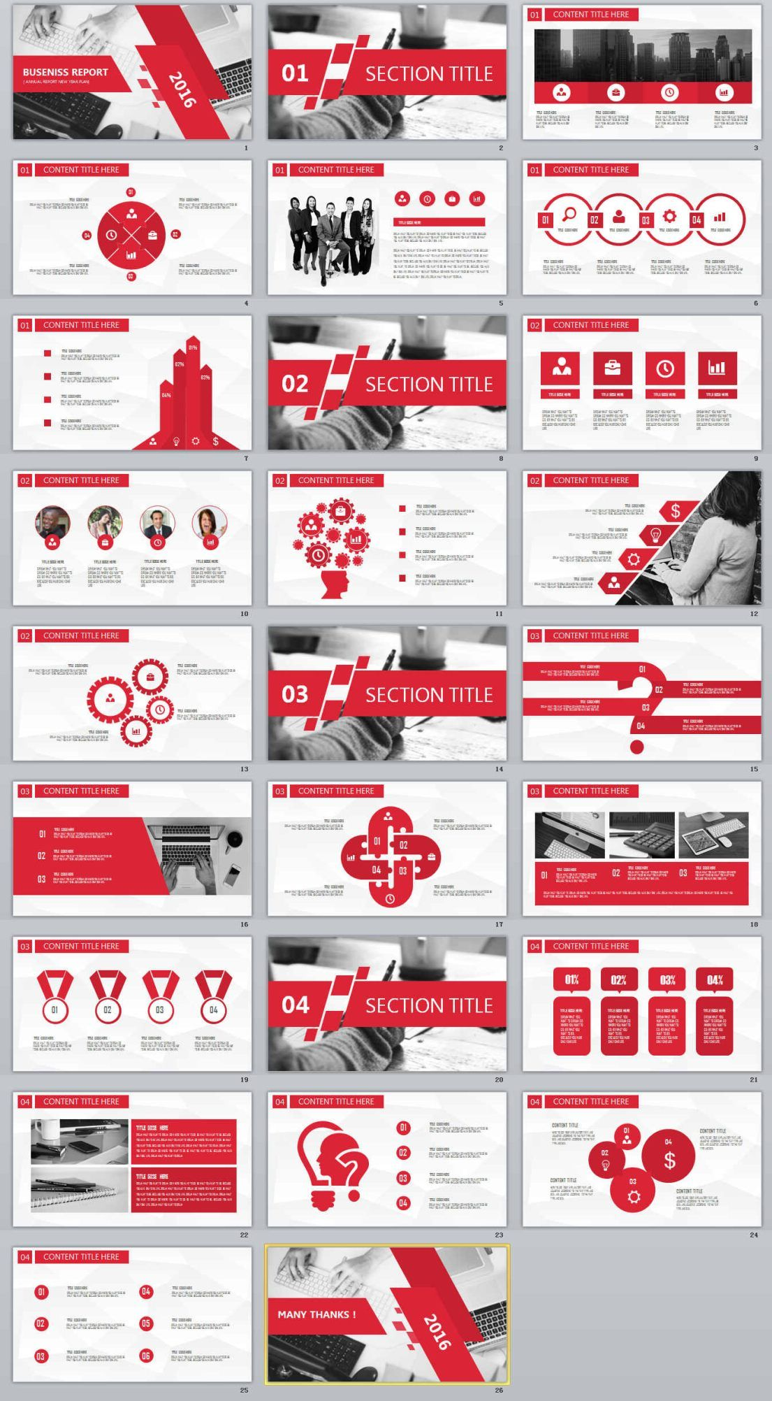26 redcolor business report powerpoint templates the highest