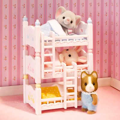 Calico Critters Triple Baby Critters Bunk Beds Blast Groceries