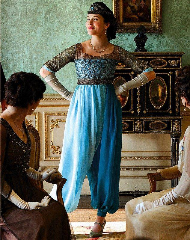 sybil+in+harem+pants   Top Ten Costumes in Downton Abbey