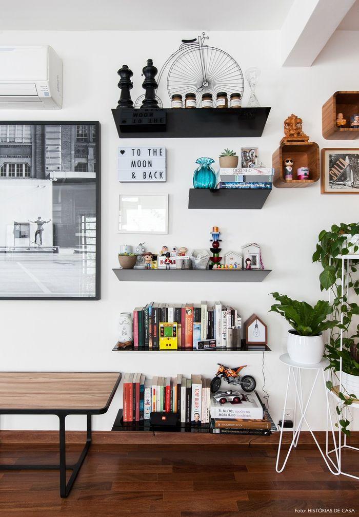 Vintage Möbel, Einrichtungsideen fürs Wohnzimmer, Holzregale - retro mobel wohnzimmer