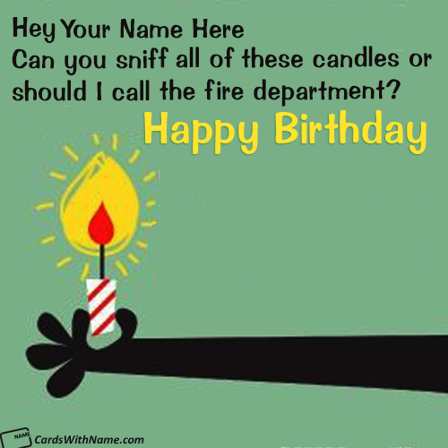 Funny Birthday Cards For Friend With Name Edit