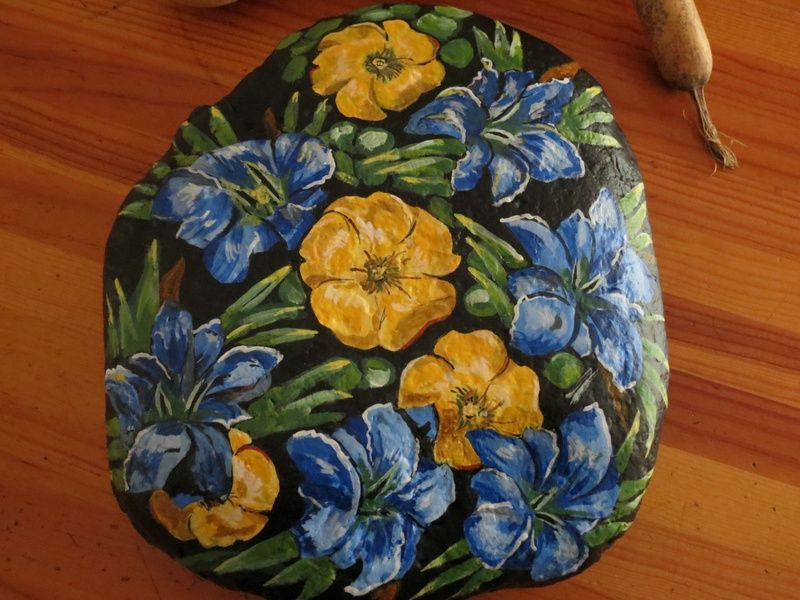 Blue and yellow flowers - Flores Azules y amarillas