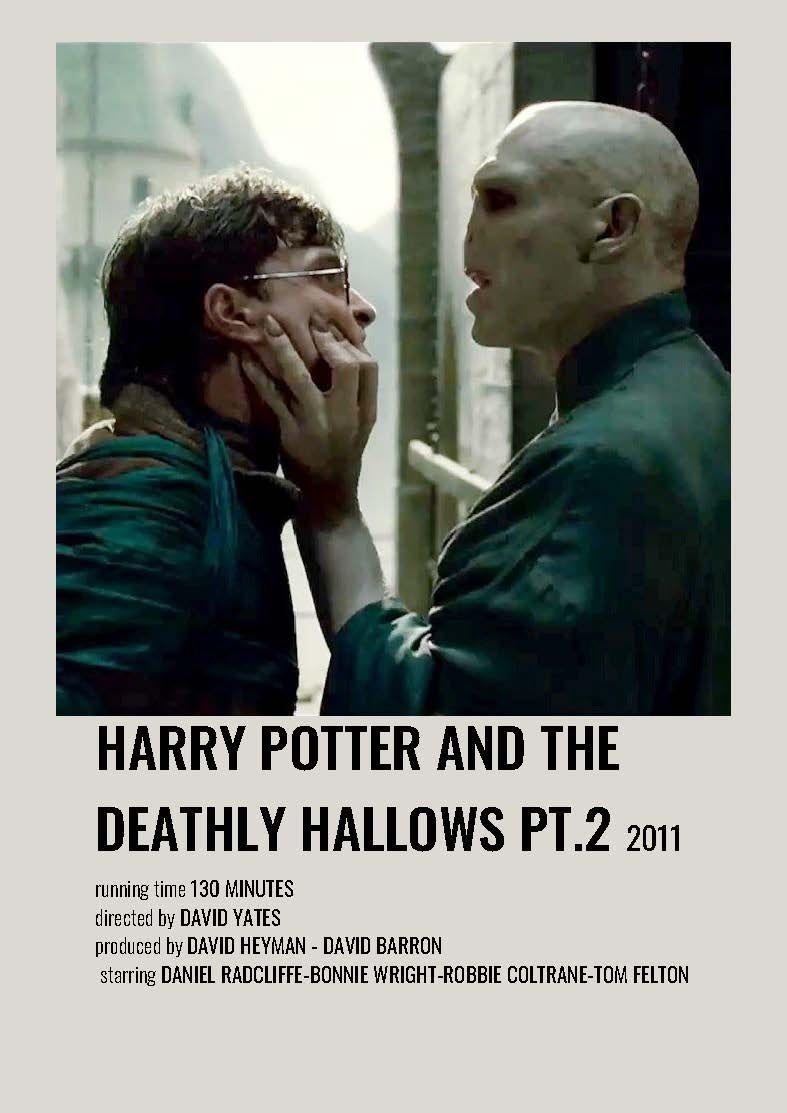 Harry Potter and the Deathly Hallows Pt.2 minimalist polaroid movie poster
