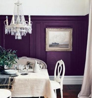Room Dark Warm Purple With White Trim