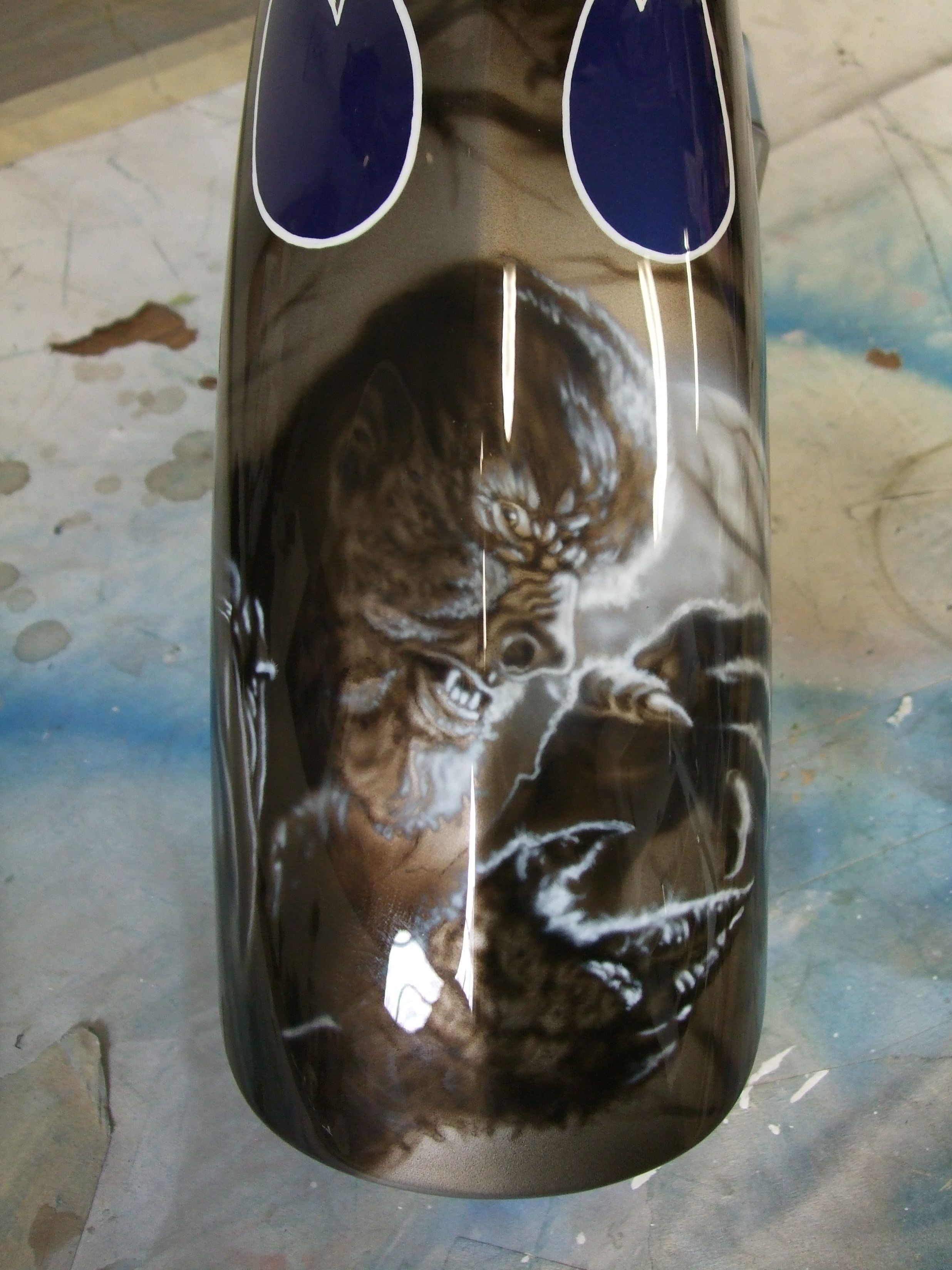 Wolfman on front fender