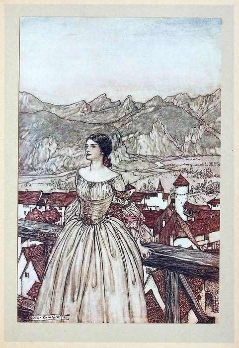 Berlalda A Rackham From Undine By De La Motte Fouque London 1909 In 2019 Arthur Rackham Illustration Art Art