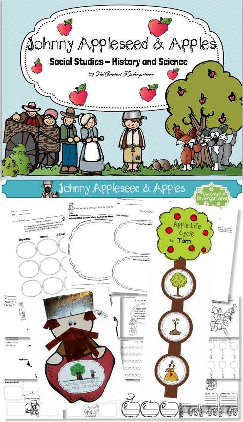 Johnny Appleseed and Apples Social Studies - History and ...