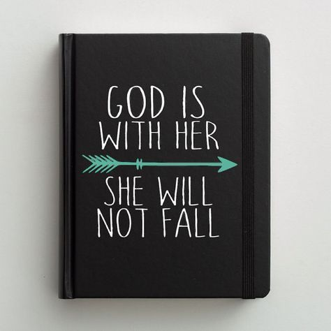 Bible Decal // Bible Journaling // Christian Decal // Bible Journaling Decal // God Is With Her // Bible Decor // Wonderfully Made Creations