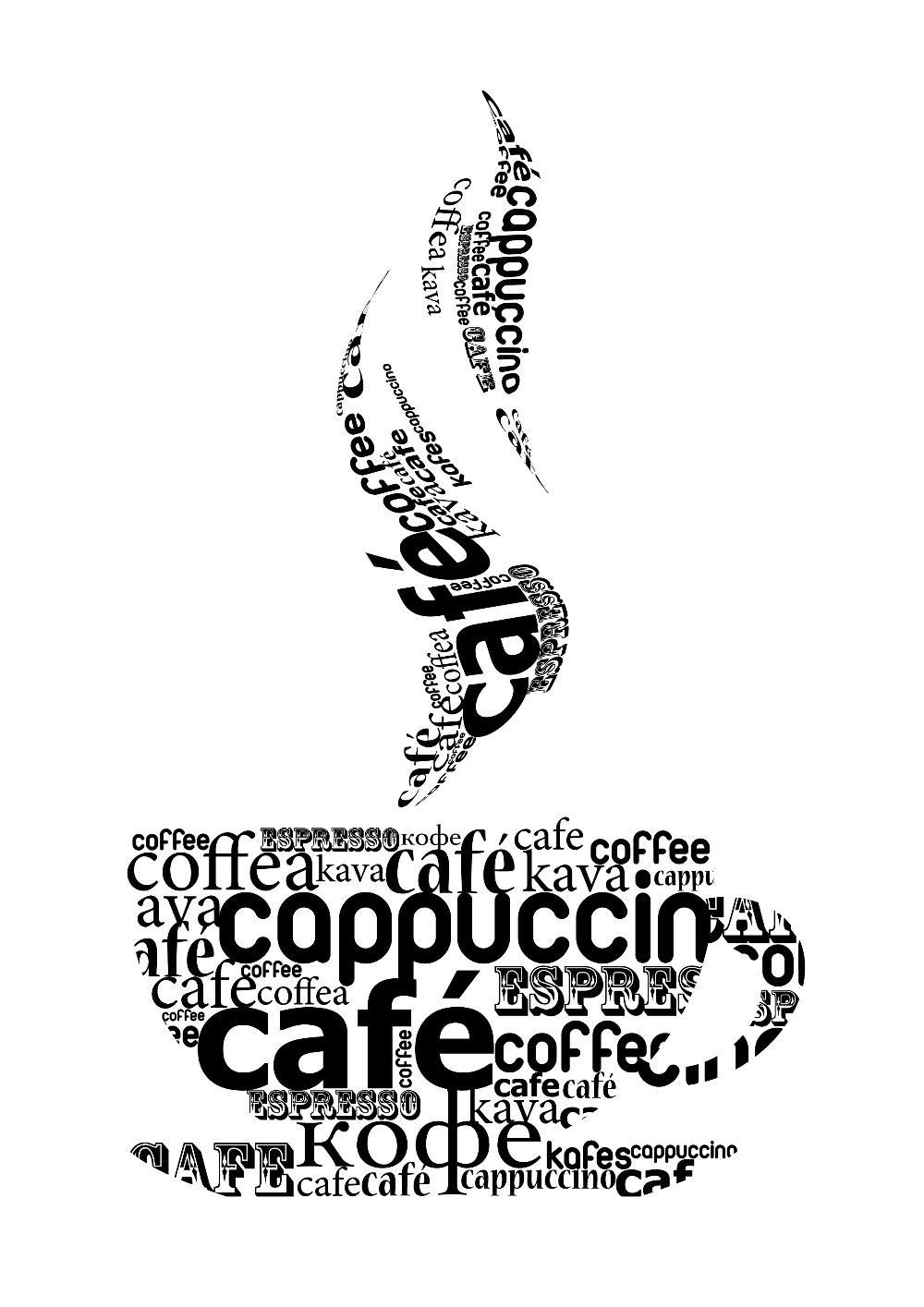 DIY Coffee Cups Sign Decal Vinyl Sticker Window Shops Pubs Hotels - How to make car window decals at home