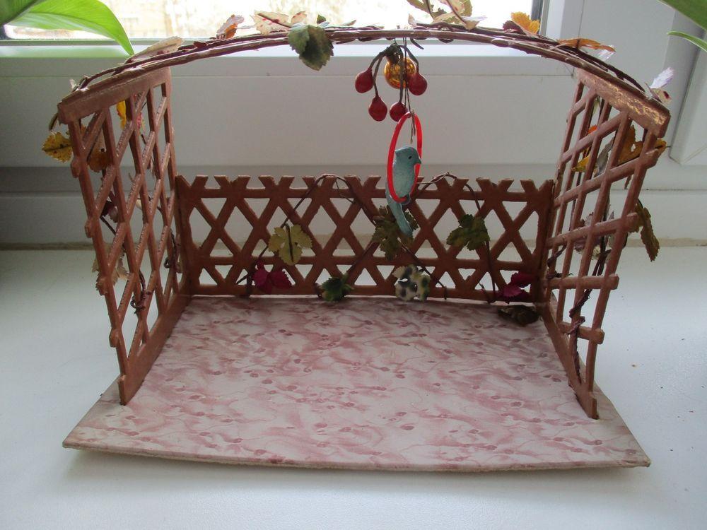 Antiker Pavillon Gartenlaube Gepragte Pappe Zubehor Puppenhaus