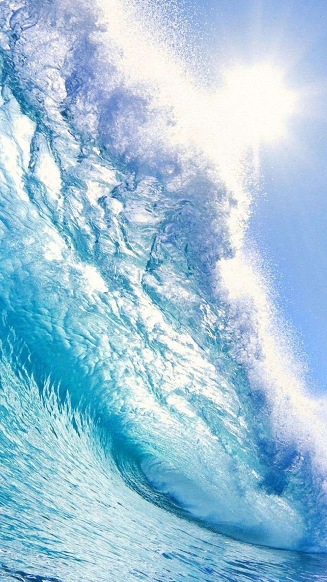 Bright Blue Wave IPhone 6s Wallpaper