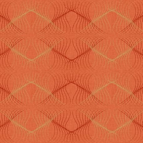 York Sure Strip Orange Optic Removable Wallpaper