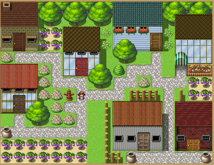 Okay, I'll jump in  Working on MV Modern Exterior Tileset