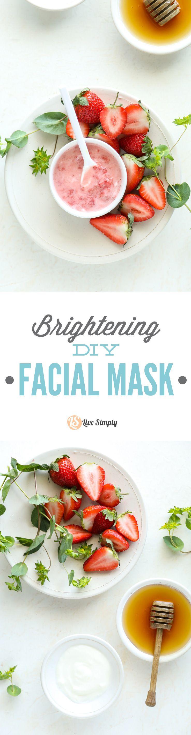 Strawberries and Yogurt Brightening DIY Facial Mask – Live Simply