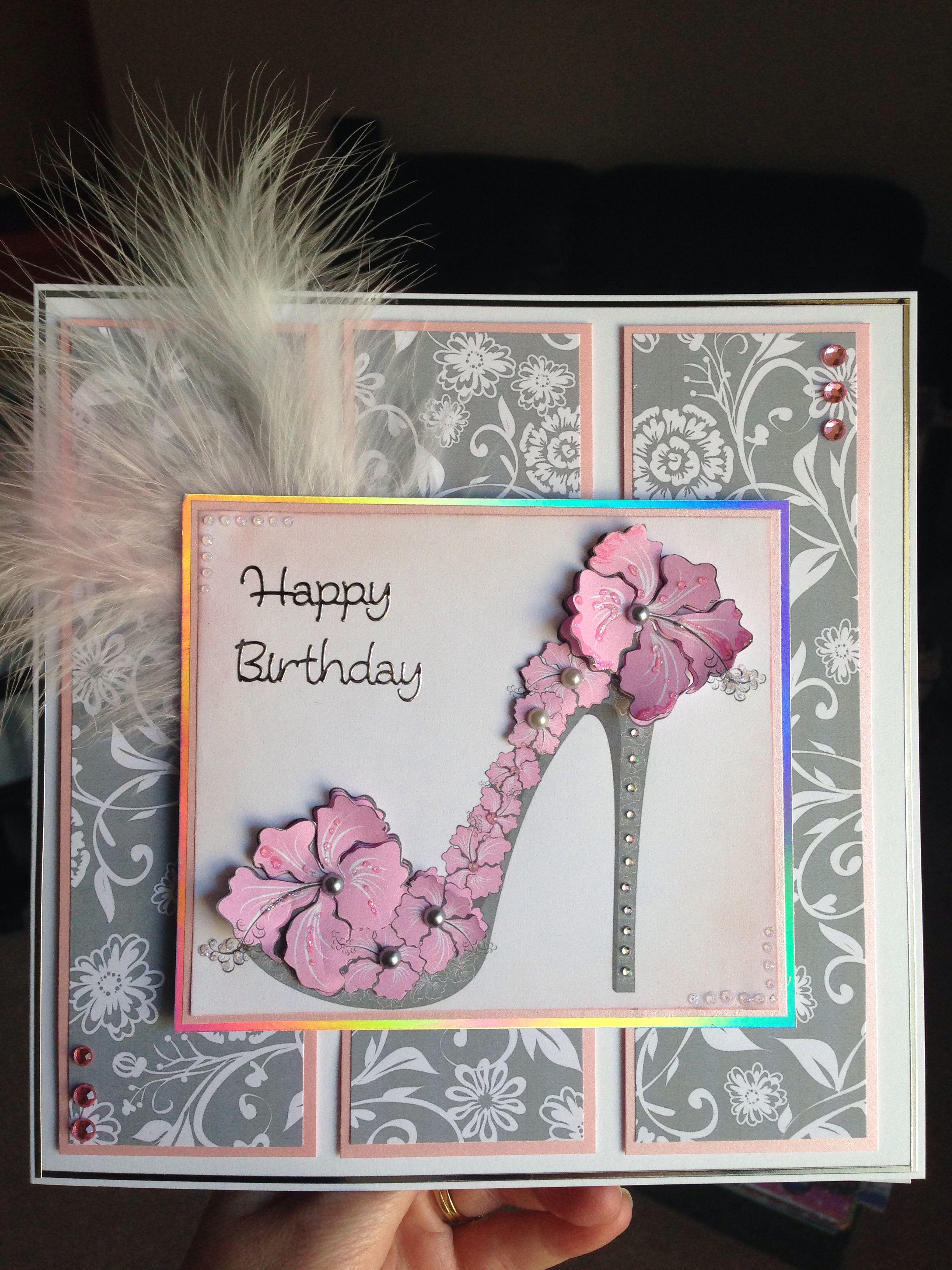 Fancy Shoe Card Kick Up Your Heels Have Fun Card Making Birthday Handmade Birthday Cards Creative Cards