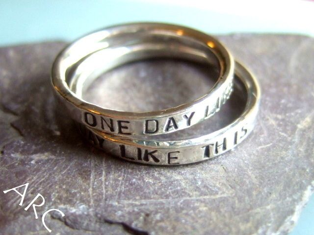One day like this Song lyric rings Songs Wedding and Wedding