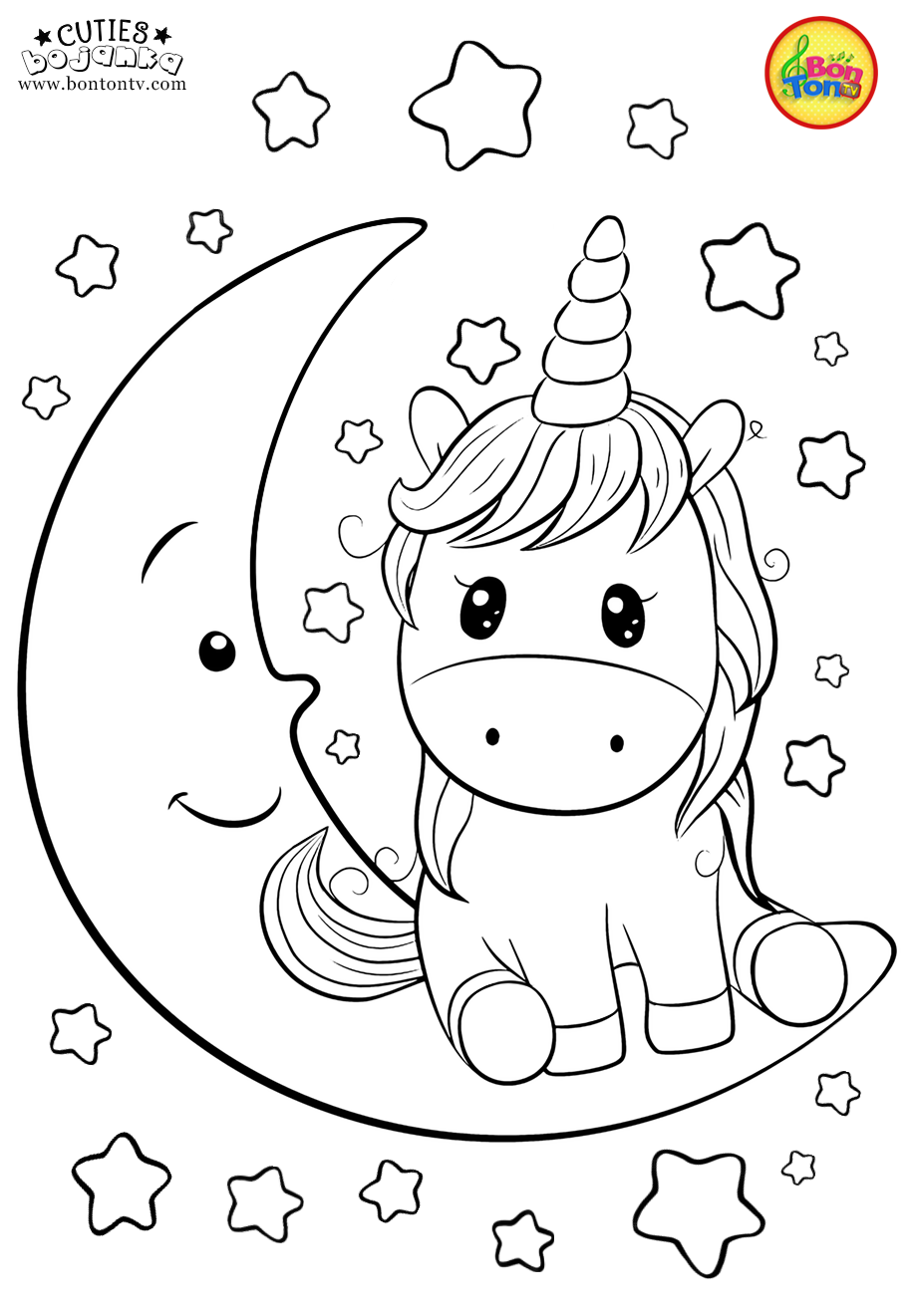 Cuties Coloring Pages for Kids - Free Preschool Printables - Slatkice bojanke - Cute Animal Coloring Books by BonTon TV - Free Kindergarten Worksheets, Preschool Activities for Kids - bojanke za djecu - radni listovi - BonTon TV - Zabavni portal za djecu - Igrice za djecu, pjesme i pjesmice za djecu, priče i bajke, basne, crtići, bojanke, slikovnice