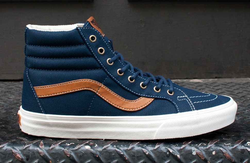 vans sk8 hi coated canvas