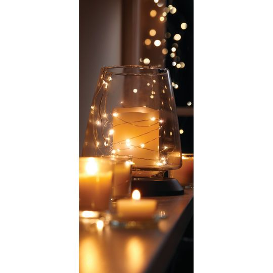 Micro Led String Lights Apothecary & Company Silver Decorative Micro Led String Lights 5 Ft