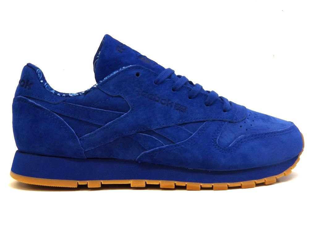 Reebok Classic Leather Tdc Blue Suede West Brothers Sneakers Men Fashion Reebok Shoes Blue Sneakers