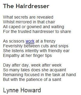 The Hairdressers Poem Hair Jokes