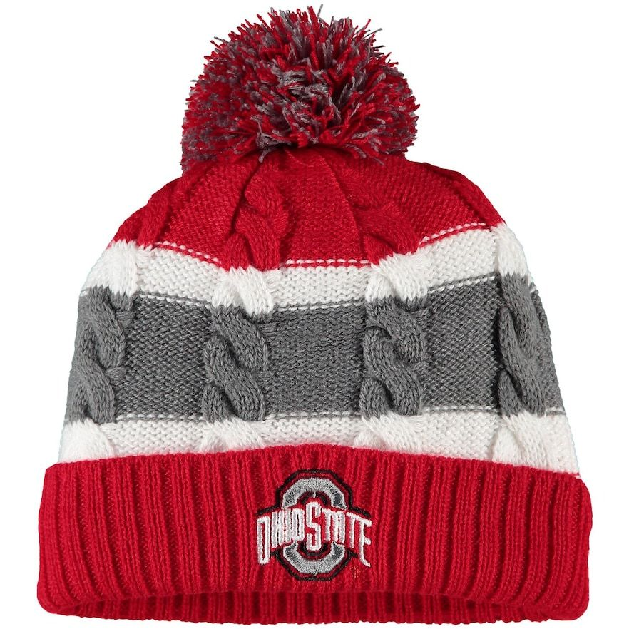 Toddler Top of the World Scarlet Ohio State Buckeyes Windy Cuffed Knit Hat With Pom #ohiostatebuckeyes