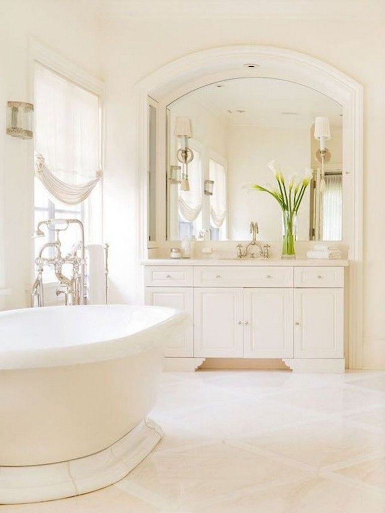 65 Staggering Shabby Chic Bathroom Decor Ideas White Bathroom