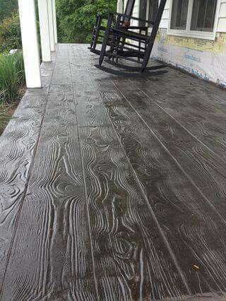 Stamped Concrete With Images Wood Stamped Concrete Diy