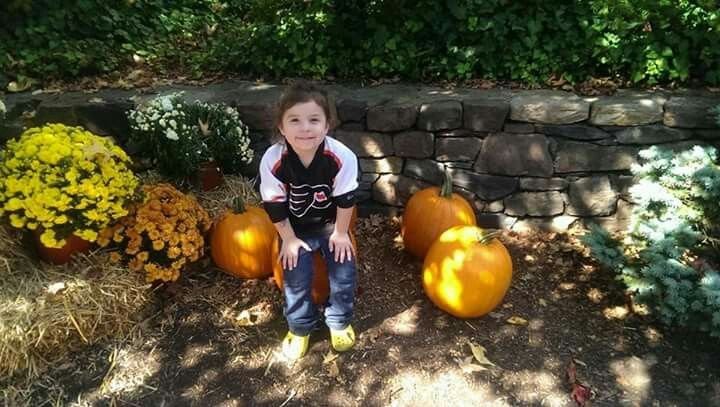 Abby and her Philly Flyers Jersey!😘