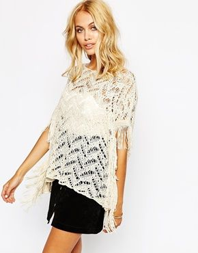 white knitted top tunic with fringe - Поиск в Google