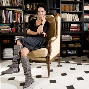 Bottes women gray heels 1 cm size 39, online buy Bottes woman MODATOI